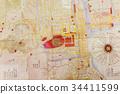 古董地图 地图 江户时代 34411599