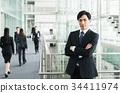 商务人士 商人 男性白领 34411974