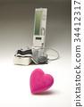 sphygmomanometer, blood pressure monitor, heart 34412317