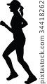 runner silhouette. jogging silhouette 34418262