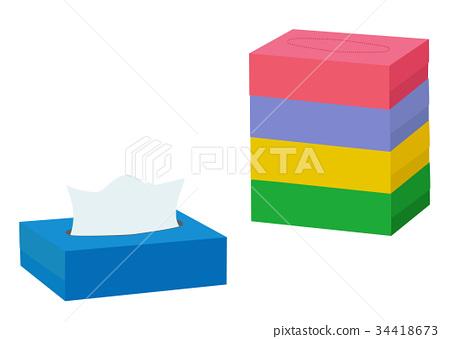 Tissue paper illustrations 34418673