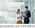 businessman, business, woman 34418816