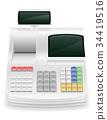 cash register stock vector illustration 34419516