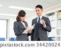 businessman business woman 34420024