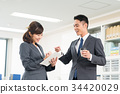 businessman, business, woman 34420029