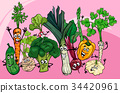vegetable, cartoon, illustration 34420961