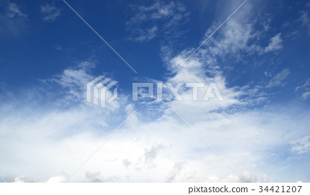 blue sky with clouds 34421207