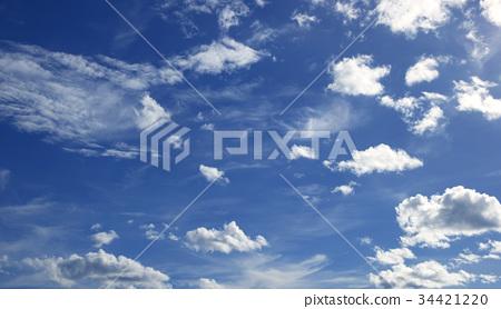 Blue sky white clouds 34421220
