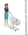 woman vector buy 34421514
