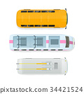 bus, train, vector 34421524