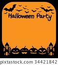 halloween, pumpkin, space 34421842