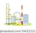 Large Many Stored Plant on White Background. 34422121