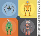 robot, metal, metallic 34422145
