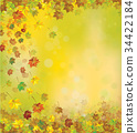 Vector autumnal leaves   background. 34422184