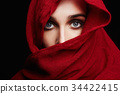 fashion islamic style girl.make up 34422415