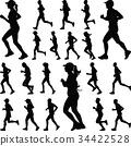 runner silhouette. jogging 34422528