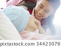母女 看望生病的人 入院病人 34423076