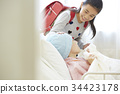 女兒 父母和小孩 親子 34423178