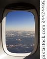 구름,운해,창,비행기 34424495