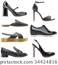 Vector Black Shoes 34424816