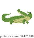 crocodile, reptile, alligator 34425380