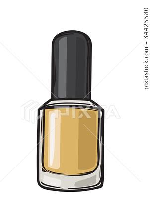 Fashioable Gold Nail Varnish Isolated Illustration 34425580