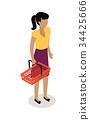 woman vector buy 34425666