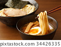 cold chinese noodles, tsukeman, dipping noodles 34426335
