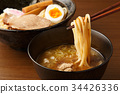 cold chinese noodles, tsukeman, dipping noodles 34426336