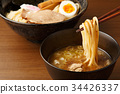 cold chinese noodles, tsukeman, dipping noodles 34426337