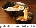 cold chinese noodles, tsukeman, dipping noodles 34426339