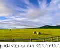 목초 롤이있는 풍경 34426942