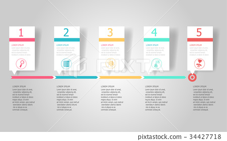 horizontal timeline infographic element background 34427718