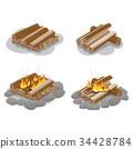 firewood, set, bonfire 34428784