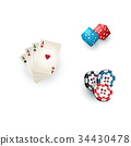 casino, symbol, vector 34430478