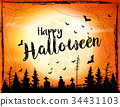 Halloween spooky background. Vector 34431103