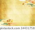 japanese pattern, maple, yellow leafe 34431758