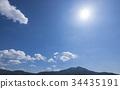 blue, sky, cloud 34435191