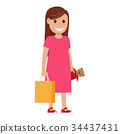 mother woman vector 34437431