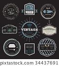 vector, logo, vintage 34437691