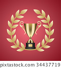 trophy, wreath, laurel 34437719