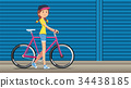 Cycling festival street fashion style. 34438185