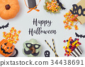 Halloween holiday banner design 34438691
