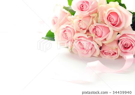 粉紅玫瑰花束 34439940