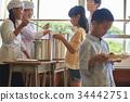 小學生 學校午餐 設定位置或桌子 34442751