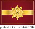 bow, gold, ribbon 34443284