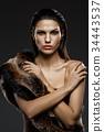fur, lady, woman 34443537