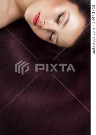 girl with beautiful long hair 34443752