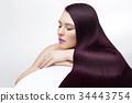 woman, long, hair 34443754