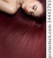 girl with beautiful long hair 34443763